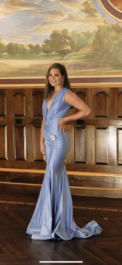 Jessica Angel Blue Size 4 Straight Dress on Queenly