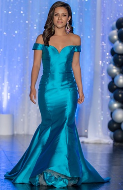 Blue Size 00 Mermaid Dress on Queenly