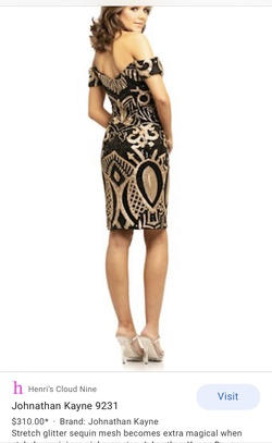 Johnathan Kayne Black Size 4 Cocktail Dress on Queenly