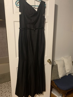 Black Label Halo Black Size 12 Belt Mermaid Dress on Queenly