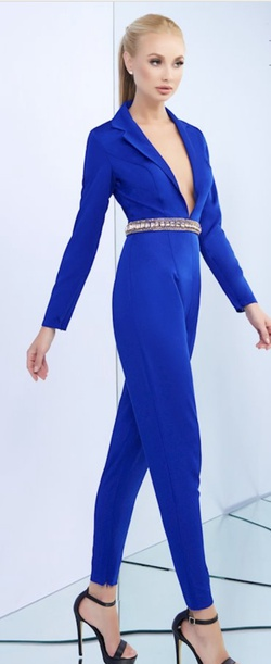 Mac Duggal Blue Size 2 Jumpsuit Dress on Queenly