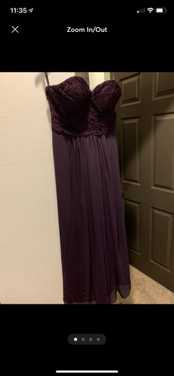 Bill levkoff Purple Size 16 Plus Size Bridesmaid A-line Dress on Queenly