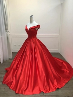 Vinca Sunny Red Size 16 Prom Backless Ball gown on Queenly