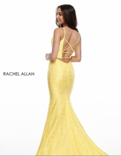 Rachel Allan Yellow Size 2 Sweetheart Mermaid Dress on Queenly
