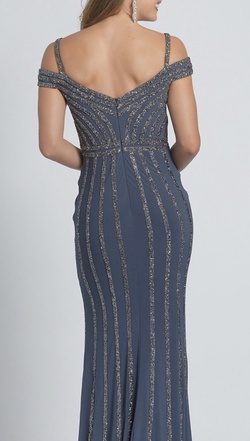 Dave & Johnny Blue Size 0 Dave And Johnny Silver A-line Dress on Queenly