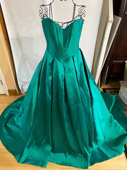 Jovani Green Size 8 Train Ball gown on Queenly