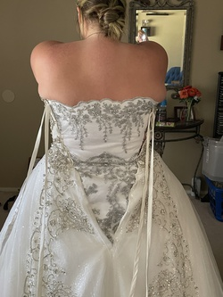 White Size 22 Ball gown on Queenly