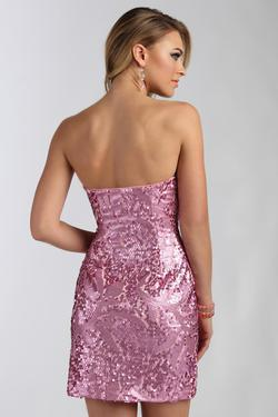 Style 9151615 Jolene Pink Size 4 Sorority Formal Cocktail Dress on Queenly