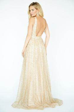 Style 19088 Jolene Gold Size 12 Pageant Tall Height Ball gown on Queenly