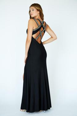 Style 19089 Jolene Black Size 4 Side slit Dress on Queenly