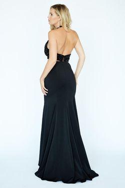 Style 19095 Jolene Black Size 4 Halter Sorority Formal Tall Height Mermaid Dress on Queenly