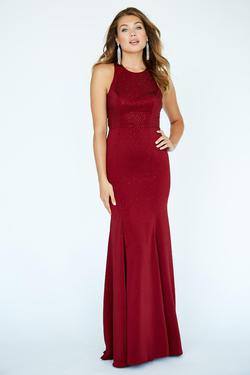 Style 19097 Jolene Red Size 4 Sorority Formal Tall Height Wedding Guest Mermaid Dress on Queenly