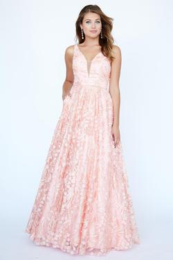 Style 19101 Jolene Pink Size 10 Tulle Tall Height Wedding Guest Ball gown on Queenly