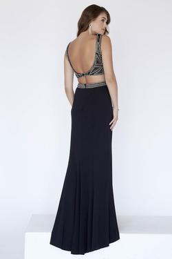 Style 18040 Jolene Black Size 14 Sorority Formal Prom Tall Height Straight Dress on Queenly