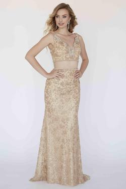 Style 18310 Jolene Gold Size 4 Sorority Formal Tall Height Wedding Guest Mermaid Dress on Queenly