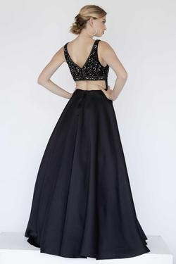 Style 17144 Jolene Black Size 8 Pageant Tall Height Ball gown on Queenly