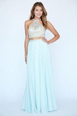 Style 19115 Jolene Blue Size 4 Two Piece Sorority Formal Straight Dress on Queenly