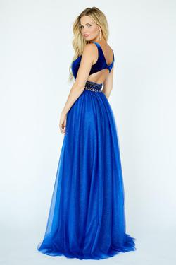 Style 19107 Jolene Blue Size 6 Pageant Tall Height Ball gown on Queenly