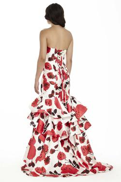 Style 17086 Jolene Red Size 4 Sorority Formal Mermaid Dress on Queenly