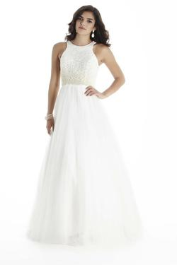 Style 17045 Jolene White Size 12 Pageant Quinceanera Tall Height A-line Dress on Queenly