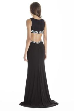 Style 17021 Jolene Black Size 00 Sorority Formal Tall Height Wedding Guest Straight Dress on Queenly