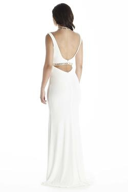Style 17019 Jolene White Size 8 Cut Out Tall Height Sorority Formal Straight Dress on Queenly
