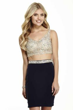 Style 16564 Jolene Nude Size 8 Sorority Formal Nightclub Homecoming Cocktail Dress on Queenly