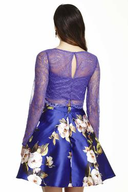 Style 16563 Jolene Purple Size 14 Two Piece Cocktail Dress on Queenly