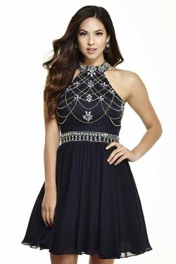 Style 16531 Jolene Blue Size 18 Flare Homecoming Cocktail Dress on Queenly