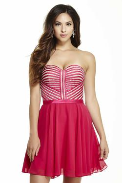 Style 16528 Jolene Pink Size 4 Flare Cocktail Dress on Queenly