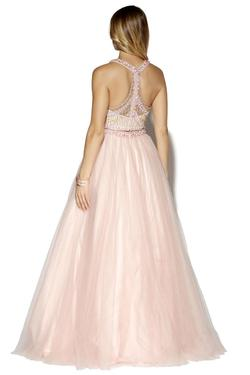 Style 16134 Jolene Light Pink Size 2 Pageant Ball gown on Queenly