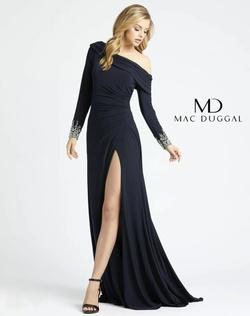 Mac Duggal Blue Size 6 Side slit Dress on Queenly
