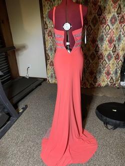 Panoply Orange Size 4 Sheer Mermaid Dress on Queenly