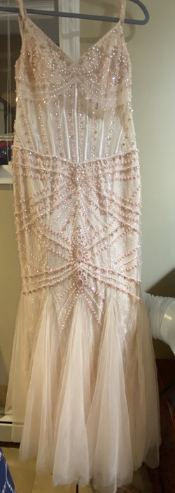 Jovani Nude Size 12 Pageant Mermaid Dress on Queenly
