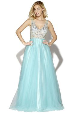 Style 16041 Jolene Blue Size 2 Tulle Tall Height Ball gown on Queenly