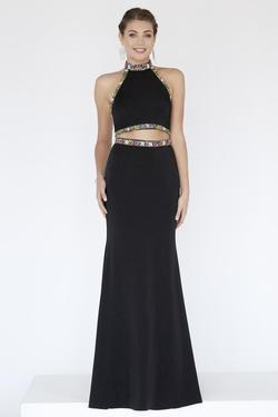 Style 18082 Jolene Black Size 6 Halter Sorority Formal Tall Height Wedding Guest Straight Dress on Queenly