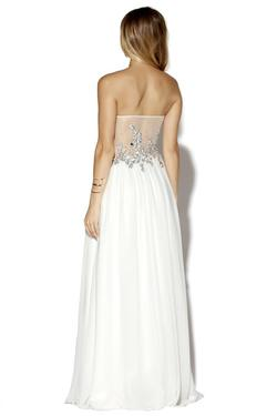 Style 16059 Jolene White Size 4 Quinceanera Tulle Tall Height Ball gown on Queenly