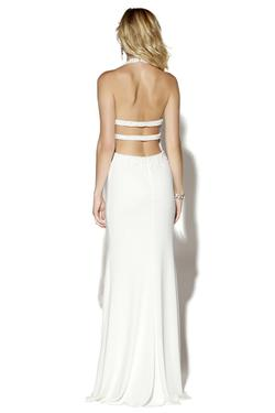 Style 16044 Jolene White Size 6 Jersey Side slit Dress on Queenly