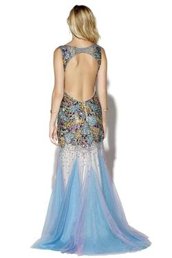 Style 16033 Jolene Multicolor Size 6 Pageant Tulle Tall Height Mermaid Dress on Queenly
