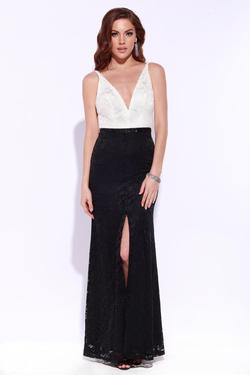 Style Q168E214 Jolene Black Size 10 Sorority Formal Tall Height Wedding Guest Side slit Dress on Queenly
