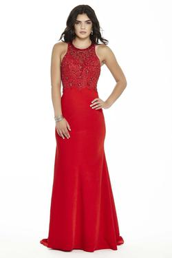 Style 17139 Jolene Red Size 4 Pageant Sorority Formal Tall Height Mermaid Dress on Queenly