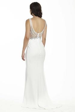 Style 17138 Jolene White Size 6 Wedding Sorority Formal Sheer Tall Height Mermaid Dress on Queenly