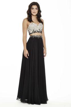 Style 17093 Jolene Black Size 6 Sorority Formal Pageant Mermaid Dress on Queenly