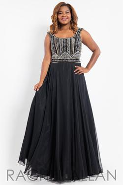 Style 7810 Rachel Allan Black Size 28 Pageant Tall Height A-line Dress on Queenly