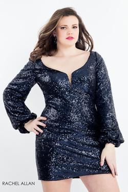 Style 4816 Rachel Allan Blue Size 14 Sorority Formal Tall Height Cocktail Dress on Queenly