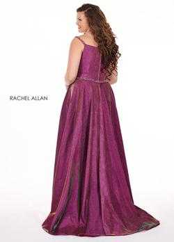Style 6700 Rachel Allan Hot Pink Size 14 Pageant Tall Height Side slit Dress on Queenly