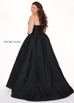 Style 6679 Rachel Allan Black Size 28 Prom Pageant Ball gown on Queenly