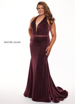 Style 6667 Rachel Allan Red Size 14 Jersey Wedding Guest Tall Height Halter Mermaid Dress on Queenly