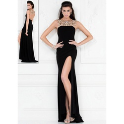 Lucci Lu Black Size 6 Prom Sequin Straight Dress on Queenly