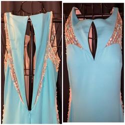 Rachel Allan Light Blue Size 6 Pageant Straight Dress on Queenly